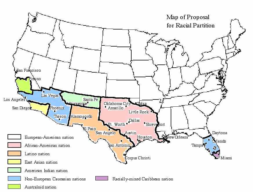 Racial Partition For Racial Preservation - Asian Population In Us Map